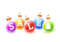 Palle di vendita di Natale Immagini Stock Libere da Diritti