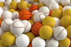 Palle differenti di sport Fotografia Stock Libera da Diritti