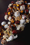 Palle dolci variopinte del biscotto Immagine Stock