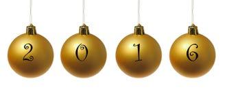 Palle dorate di nuovo anno Immagine Stock Libera da Diritti
