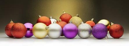 Palle e stardust di Natale Fotografia Stock Libera da Diritti