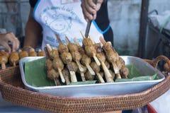 Palle fritte della pasta di pesce fritte tortino del pesce Fotografia Stock