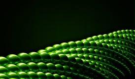Palle lucide verdi come la geometria del abstact 3D ha torto la forma circolare Fotografia Stock Libera da Diritti