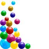palle metalliche multicolori 3D Elemento di disegno Fotografia Stock