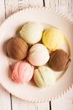 Palle multicolori del gelato Immagini Stock Libere da Diritti