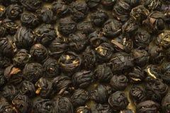 Palle nere cinesi della foglia di tè Fotografia Stock