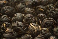 Palle nere cinesi della foglia di tè Immagine Stock