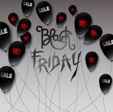 Palle nere fatte nello stile di carta con l'iscrizione rossa e bianca: Fotografie Stock
