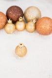 Palle per la decorazione dell'albero di natale Fotografia Stock