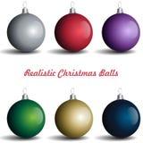 Palle realistiche di Natale immagini stock