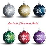 Palle realistiche di Natale fotografia stock libera da diritti