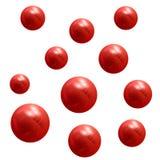 palle rosse metalliche 3D Elemento di disegno Fotografia Stock Libera da Diritti