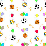 Palle senza cuciture sui palloni Fotografie Stock Libere da Diritti