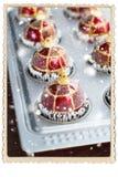 Palle Toy Baking Sheet Preparation di Natale Fotografia Stock