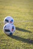 Palle ufficiali della partita dell'EURO 2016 (Adidas Beau Jeu) dell'UEFA Immagini Stock Libere da Diritti