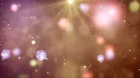 Palle variopinte astratte di Natale Fotografie Stock