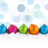Palle variopinte di Natale Fotografia Stock