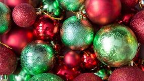 Palle variopinte di Natale, fondo astratto Immagini Stock