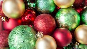 Palle variopinte di Natale, fondo astratto Fotografia Stock