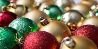 Palle variopinte di Natale, fondo astratto Fotografie Stock Libere da Diritti