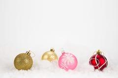 Palle variopinte di Natale su fondo astratto Fotografia Stock Libera da Diritti