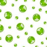 Palle verdi di cristallo Immagini Stock