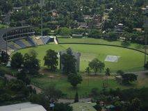 Pallekele-Kricket-Stadion in Sri Lanka stockfoto