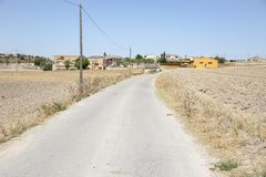Pallerolsdorp Talavera, Provincie van Lleida, Spanje Stock Fotografie
