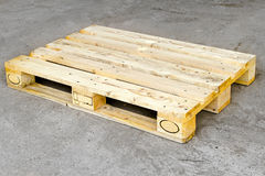 Pallet. Cargo wooden euro pallet in standard dimensions Royalty Free Stock Photography