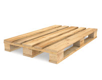 Pallet. A CEN/EURO pallet on white Backgound. Part of Warehouse series Royalty Free Stock Photos