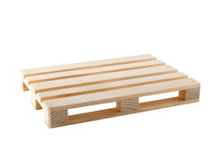 Empty Pallet. Wooden shipping pallet isolated on white Stock Image