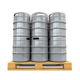 Pallet of Beer Kegs Stock Photography