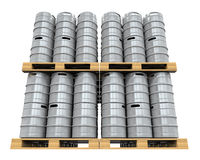Pallet of Beer Kegs Royalty Free Stock Images