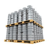 Pallet of Beer Kegs Stock Images