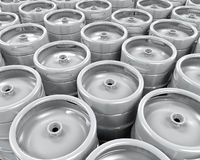 Pallet of Beer Kegs Stock Photos