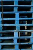 Pallet blu Fotografie Stock Libere da Diritti