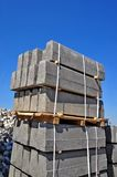The pallet with a border on a building site Royalty Free Stock Image