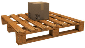 Pallet with a box Stock Image