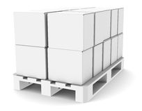 Pallet with Boxes. Copy Space. Part of warehouse series Royalty Free Stock Photography