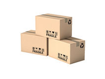 Pallet and boxes Royalty Free Stock Photo