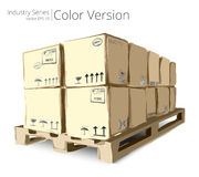 Pallet with Boxes. Stock Photos