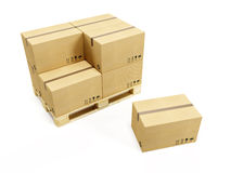 Pallet with cardboard boxes Stock Photography