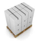 Pallet and carton box Stock Image