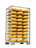 Pallet with cheese Royalty Free Stock Images