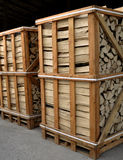 Pallet of chopped firewood_2 Stock Photography
