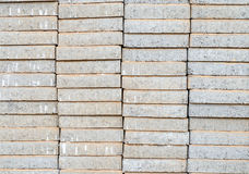Pallet of concrete block paving put Stock Photos