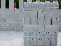Pallet with concrete blocks Stock Images