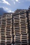 Pallet del carico con il cielo Fotografia Stock