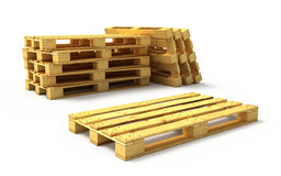 Pallet di legno Fotografia Stock