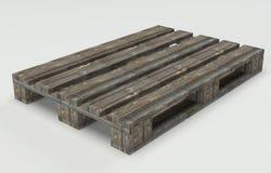 Pallet di legno del magazzino Fotografia Stock
